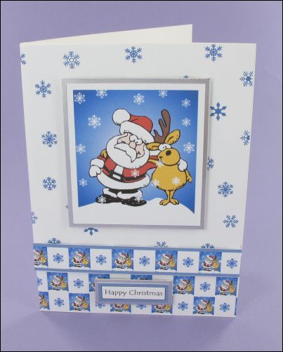 Project - Santa & Reindeer card