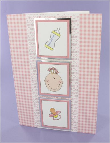 Project - Baby 3 motif card