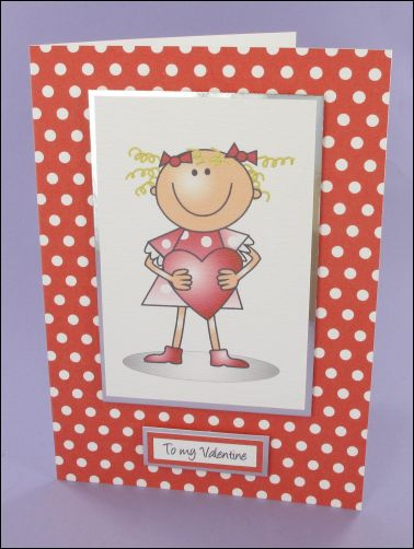 Project - Lucy with Heart Valentines card