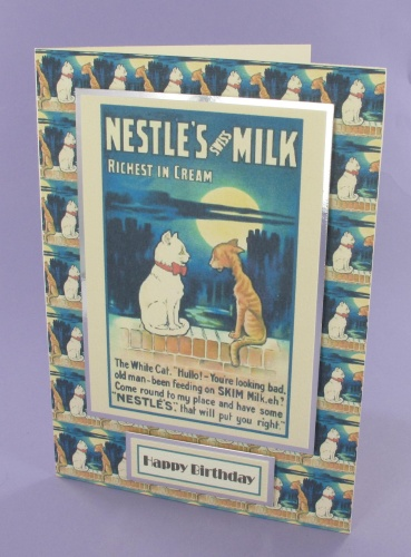 Project - Nestles Milk Cat card