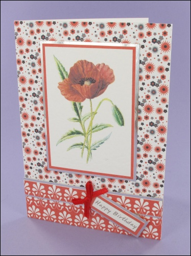 Project - Poppy Birthday card