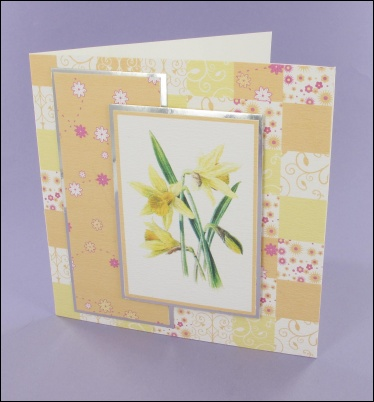 Project - Patchwork Daffodil card