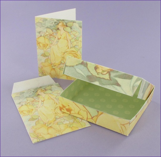 Project - Dream Roses Gift Box, Gift card & Envelope