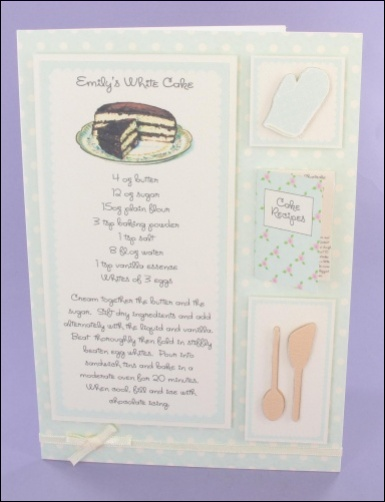 Project - Emily's White Cake Recipe card