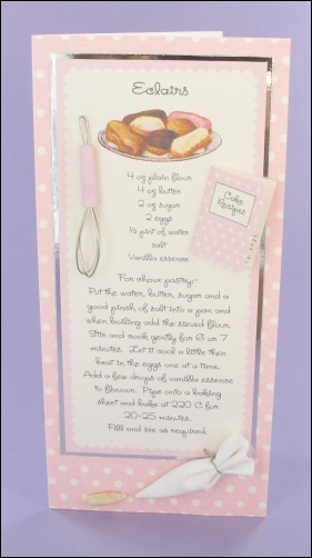 Project - Eclairs Recipe card