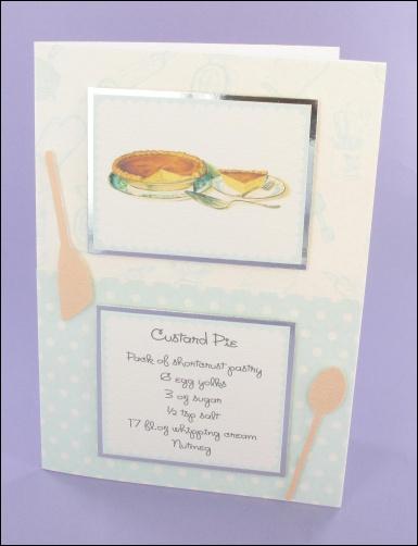 Project - Custard Pie Recipe card