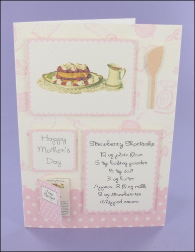 Project - Strawberry Shortcake Mother's Day card