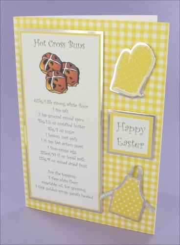 Project - Hot Cross Buns card
