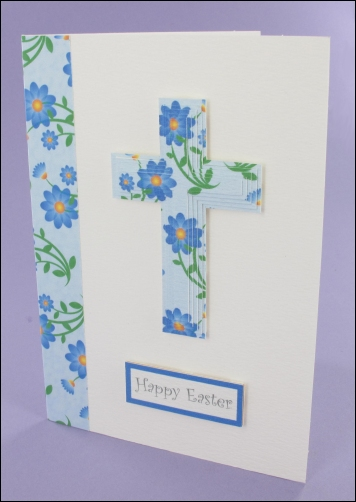 Project - Blue Easter Cross card