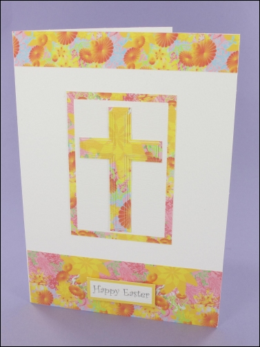 Project - Floral Easter Cross card