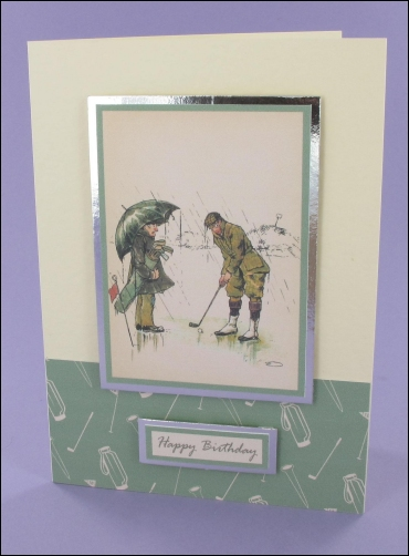 Project - Vintage Golfers card