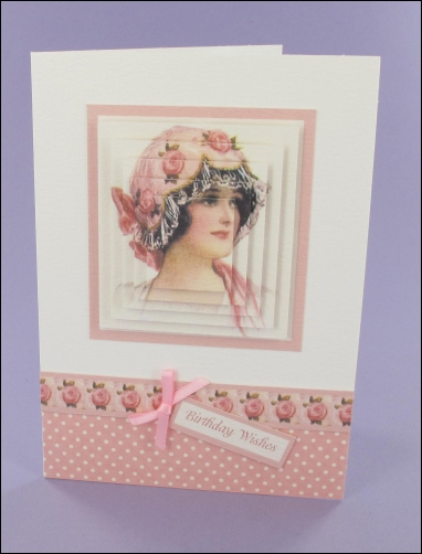 Project - Pretty Pink Hat card