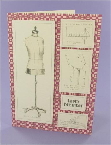 Project - C6 Dressmaking card