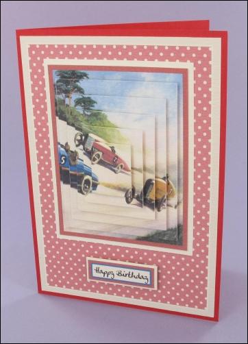 Project - Racing car pyramage card