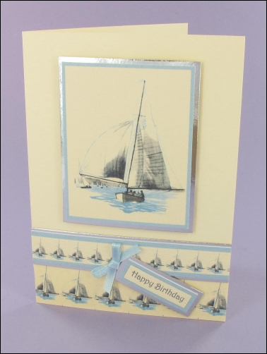 Project - Sailing Boat card