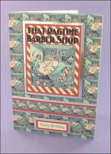Project - That Ragtime Barbers Shop card