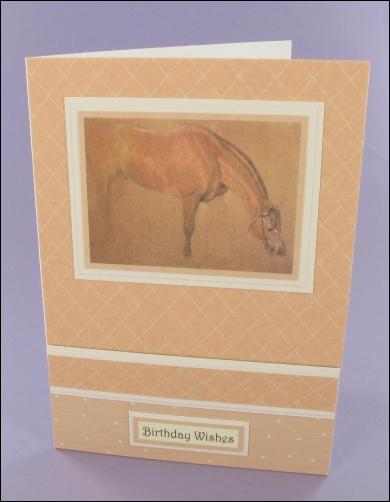 Project - Landseer Horse card
