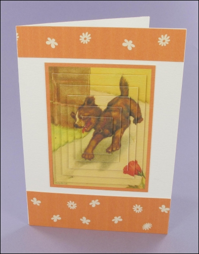 Project - Peter Newell Puppy card
