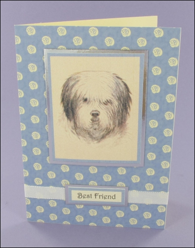 Project - Old English Sheepdog card