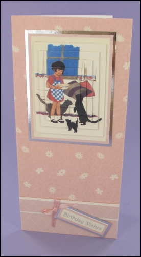 Project - Girl & Cats card