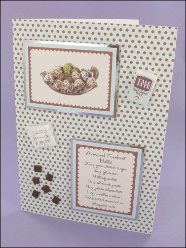 Project - Almond Fondant Balls card