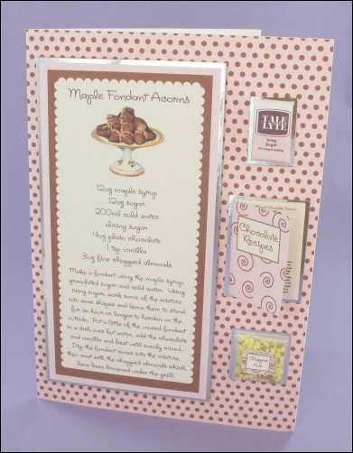 Project - Maple Fondant Acorns card