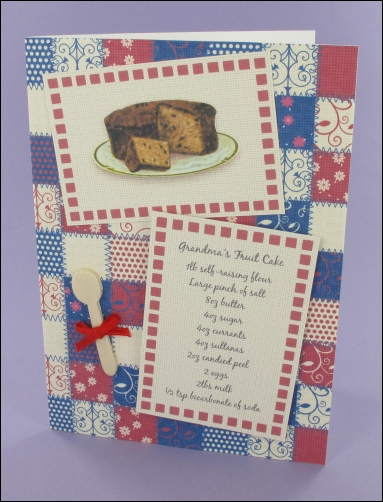 Project - Grandma's Fruit Cake Recipe card