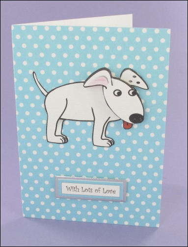 Project - Wagtail Blue Polka Dot Card