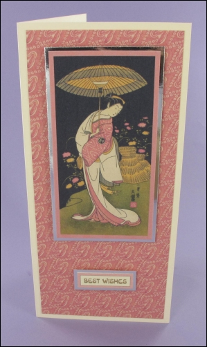 Project - Geisha with Parasol card