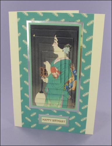 Project - Turquoise Geisha card