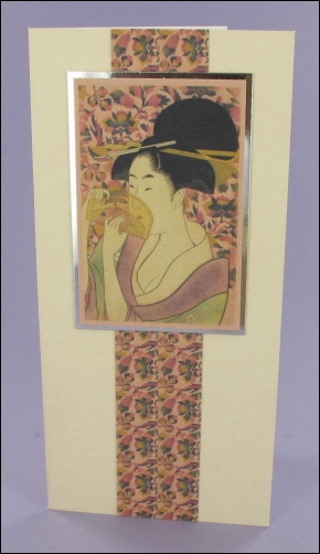 Project - Geisha with Comb card