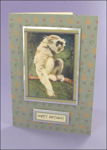 Project - Little Gibbon card