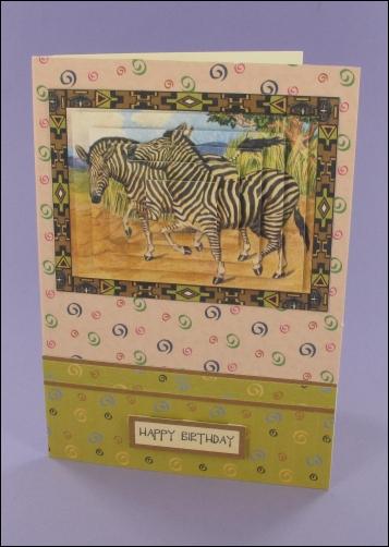 Project - Zebra Pyramage card