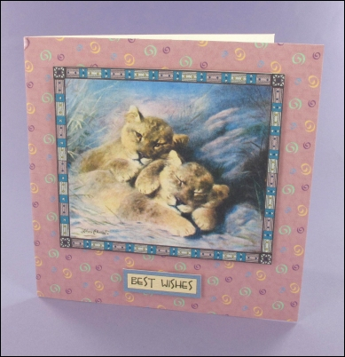 Project - Cute Lion Cubs card