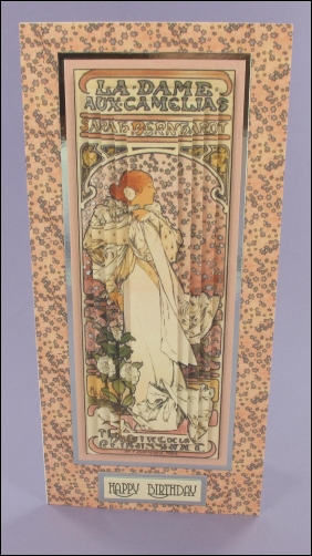 Project - La Dame aux Camelias Tall Pyramage card