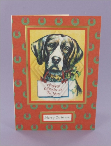 Project - Dog Happy Christmas Pyramage card