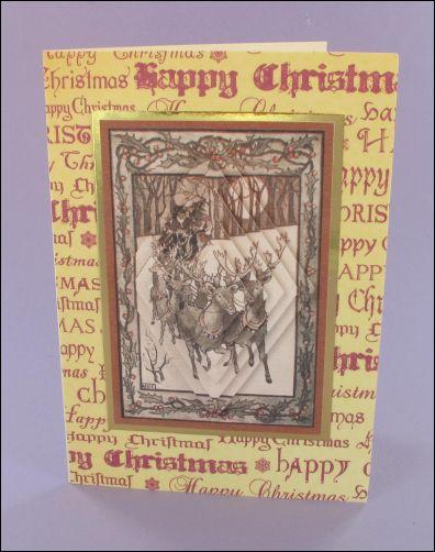 Project - Reindeer Diamond Pyramage card