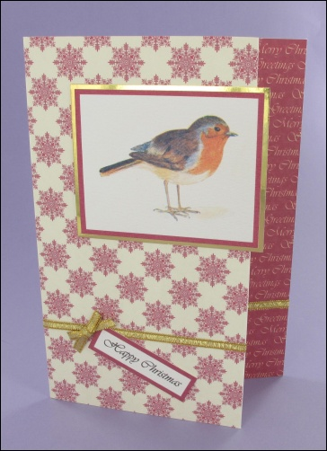 Project - Victorian Robin card