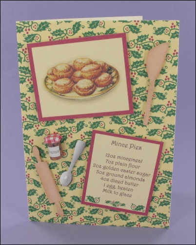 Project - Mince Pies card