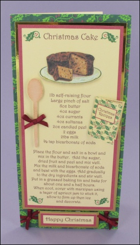 Project - Christmas Cake card