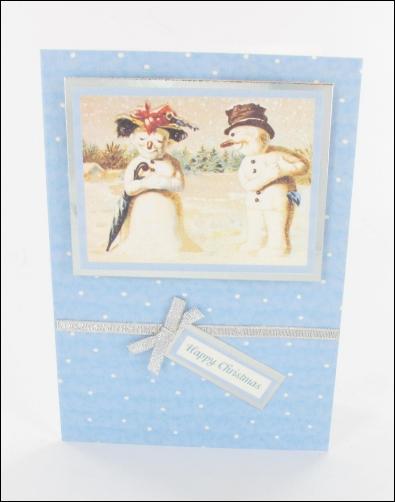 Project - Snowman Couple card