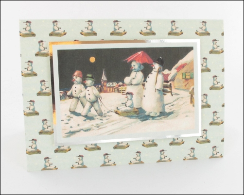 Project - Snowman Procession card