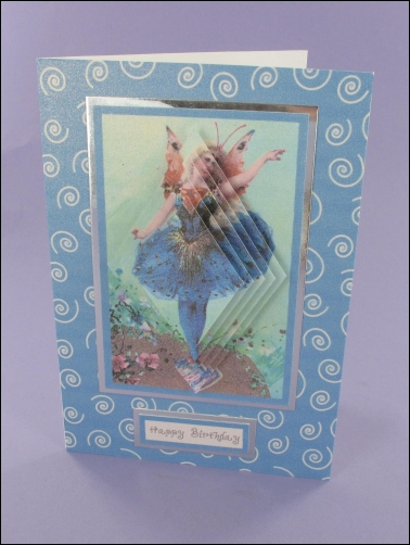 Project - Blue Fairy Diamond Pyramage card