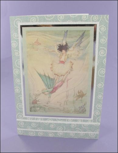 Project - Mermaid Fairy Sparkly card