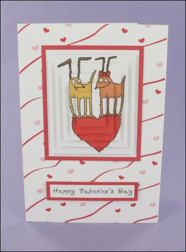 Project - Valentine's Funky Dogs Pyramage card