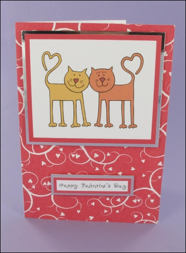 Project - Valentine's Cats card