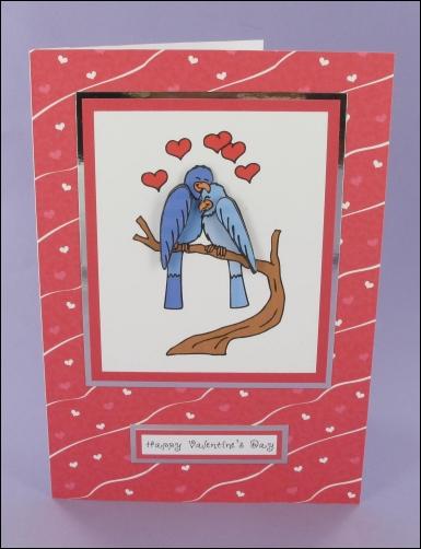 Project - Love Bird Decoupage card