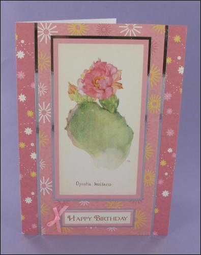 Project - Opuntia Basilaris Cactus card