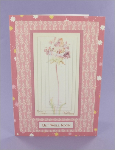 Project - Thistle Sage Get Well Soon Pyramage Card
