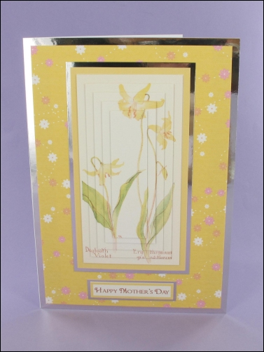 Project - Dogtooth Violet Mother's Day Pyramage Card